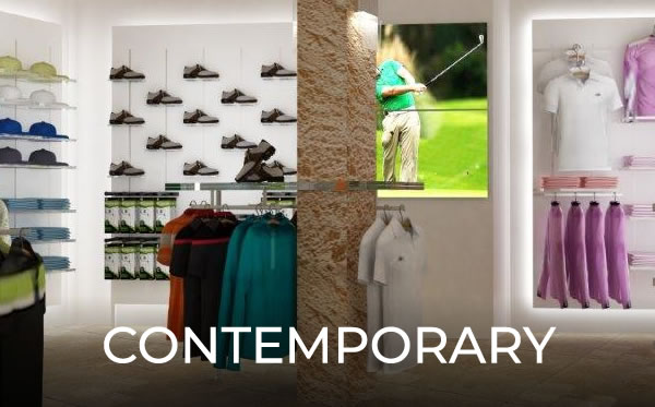 Millerbrown contemporary Golf shop designs