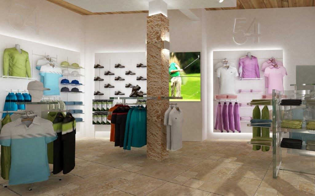 Contemporary Golf Shopfitting at its best...