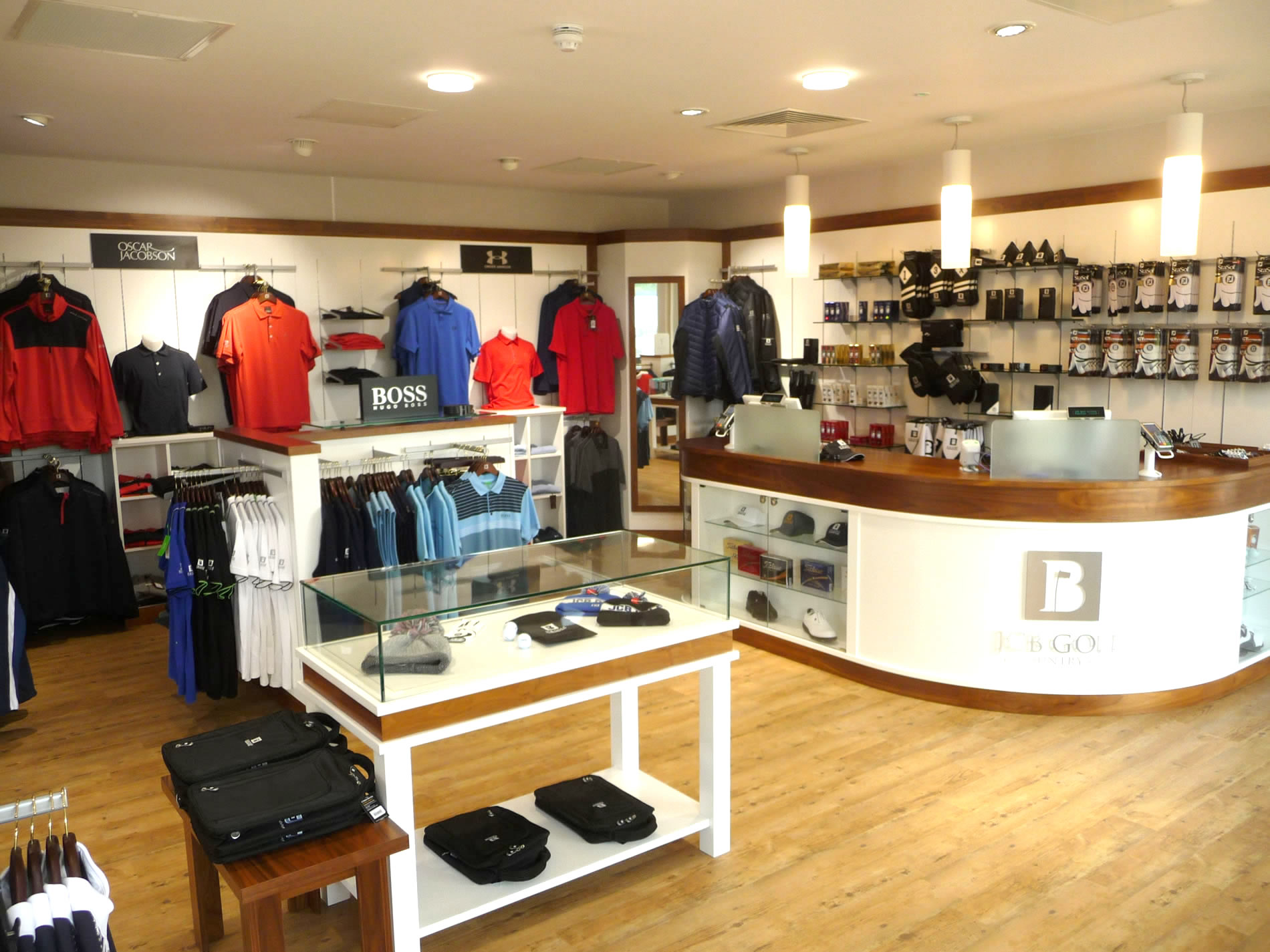 Bright, clean, contemporary shopfitting at JCB