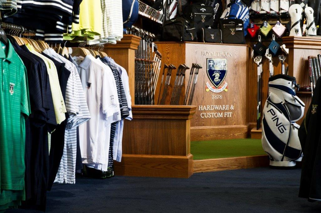 Traditional pro shop fitting by Millerbrown Golf at the Royal Troon Golf Club
