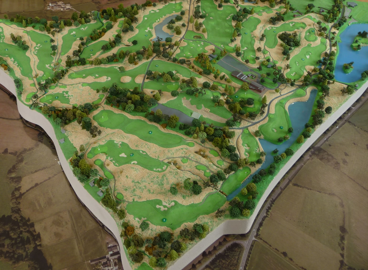 A model of the new golf course at JCB