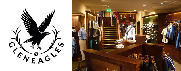 Gleneagles traditional golf shop respecting the heritage of the Club